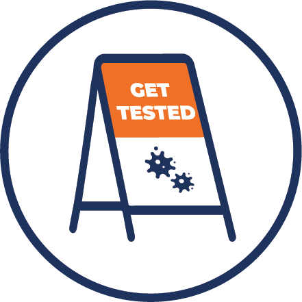 COVID-19 DHMD Testing Site Sign